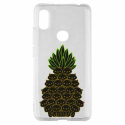 Чехол для Xiaomi Redmi S2 Pineapple cat