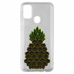 Чехол для Samsung M30s Pineapple cat