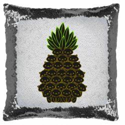 Подушка-хамелеон Pineapple cat