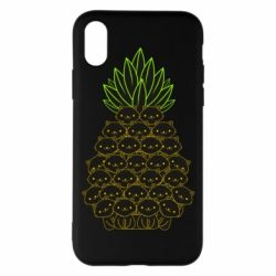 Чехол для iPhone X/Xs Pineapple cat