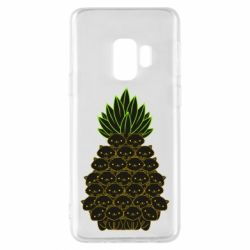 Чехол для Samsung S9 Pineapple cat