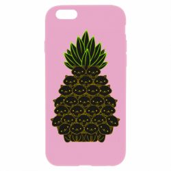 Чехол для iPhone 6/6S Pineapple cat
