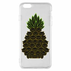 Чехол для iPhone 6 Plus/6S Plus Pineapple cat