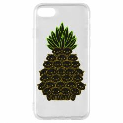 Чехол для iPhone 8 Pineapple cat
