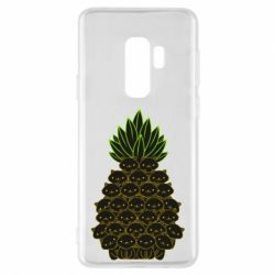 Чехол для Samsung S9+ Pineapple cat