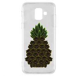 Чехол для Samsung A6 2018 Pineapple cat