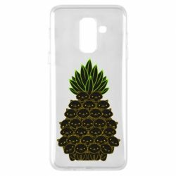 Чехол для Samsung A6+ 2018 Pineapple cat