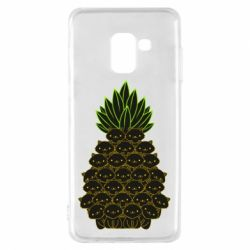 Чехол для Samsung A8 2018 Pineapple cat