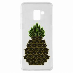 Чехол для Samsung A8+ 2018 Pineapple cat