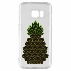 Чехол для Samsung S7 Pineapple cat