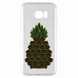 Чехол для Samsung S7 EDGE Pineapple cat