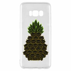 Чехол для Samsung S8 Pineapple cat