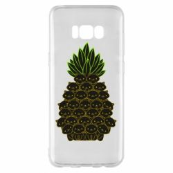 Чехол для Samsung S8+ Pineapple cat