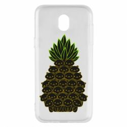 Чехол для Samsung J5 2017 Pineapple cat