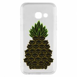 Чехол для Samsung A3 2017 Pineapple cat