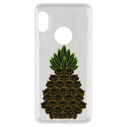 Чехол для Xiaomi Redmi Note 5 Pineapple cat