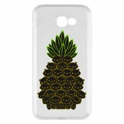 Чехол для Samsung A7 2017 Pineapple cat