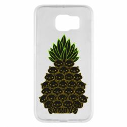 Чехол для Samsung S6 Pineapple cat