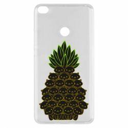 Чехол для Xiaomi Mi Max 2 Pineapple cat