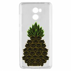 Чехол для Xiaomi Redmi 4 Pineapple cat