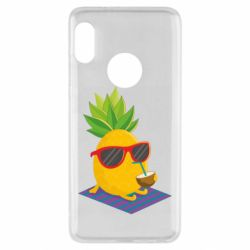 Чехол для Xiaomi Redmi Note 5 Pineapple with coconut