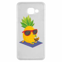 Чехол для Samsung A3 2016 Pineapple with coconut