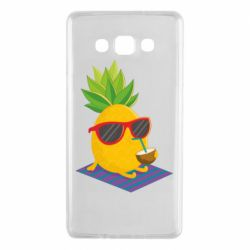 Чехол для Samsung A7 2015 Pineapple with coconut