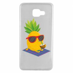 Чехол для Samsung A7 2016 Pineapple with coconut