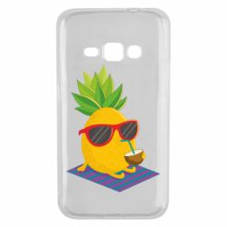 Чехол для Samsung J1 2016 Pineapple with coconut