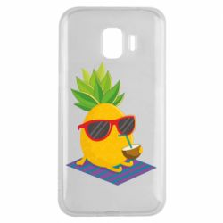 Чехол для Samsung J2 2018 Pineapple with coconut