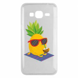Чехол для Samsung J3 2016 Pineapple with coconut