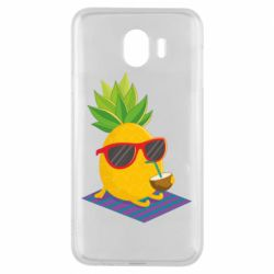 Чехол для Samsung J4 Pineapple with coconut