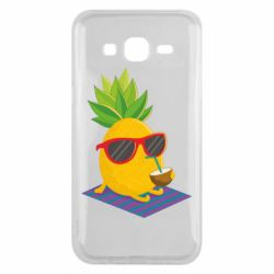 Чехол для Samsung J5 2015 Pineapple with coconut