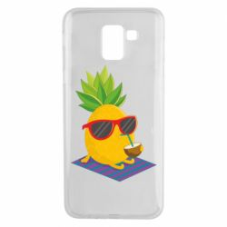 Чехол для Samsung J6 Pineapple with coconut