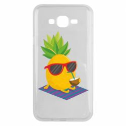 Чехол для Samsung J7 2015 Pineapple with coconut