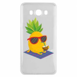 Чехол для Samsung J7 2016 Pineapple with coconut