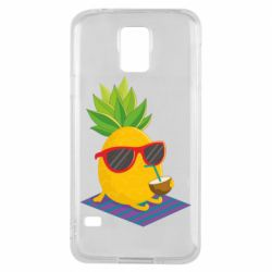 Чехол для Samsung S5 Pineapple with coconut