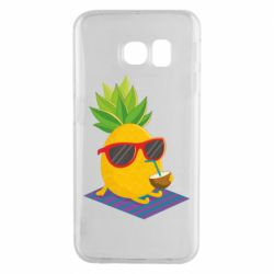 Чехол для Samsung S6 EDGE Pineapple with coconut