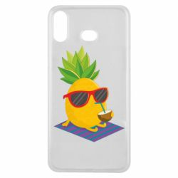 Чехол для Samsung A6s Pineapple with coconut