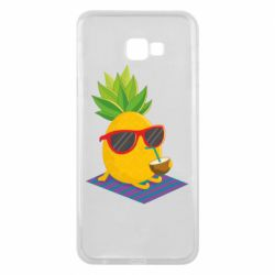 Чехол для Samsung J4 Plus 2018 Pineapple with coconut