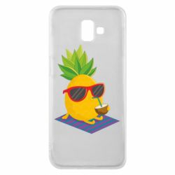Чехол для Samsung J6 Plus 2018 Pineapple with coconut