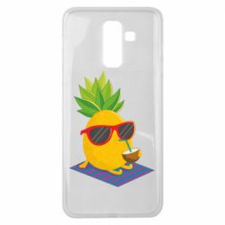 Чехол для Samsung J8 2018 Pineapple with coconut