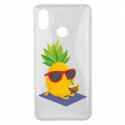 Чехол для Xiaomi Mi Max 3 Pineapple with coconut