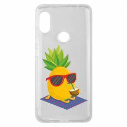 Чехол для Xiaomi Redmi Note 6 Pro Pineapple with coconut