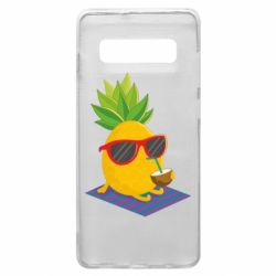 Чехол для Samsung S10+ Pineapple with coconut