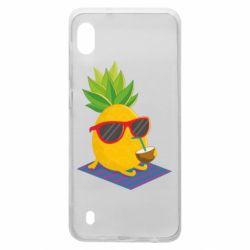 Чехол для Samsung A10 Pineapple with coconut