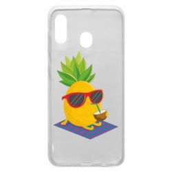 Чехол для Samsung A20 Pineapple with coconut