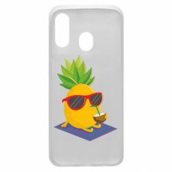 Чехол для Samsung A40 Pineapple with coconut
