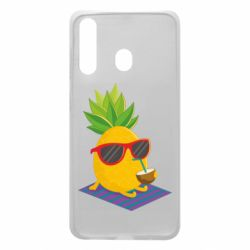 Чехол для Samsung A60 Pineapple with coconut