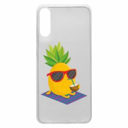 Чехол для Samsung A70 Pineapple with coconut